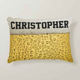 Beer Glass Personalize Decorative Pillow