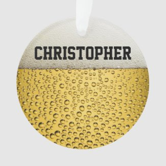 Beer Glass Personalize Ornament