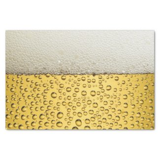 Beer Glass Personalize Tissue Paper