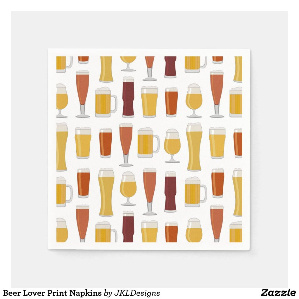 Beer Lover Print Napkins