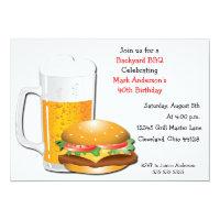 Beer N Cheese Burger Invitation