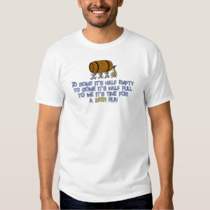 Beer Run Humor Tee Shirt
