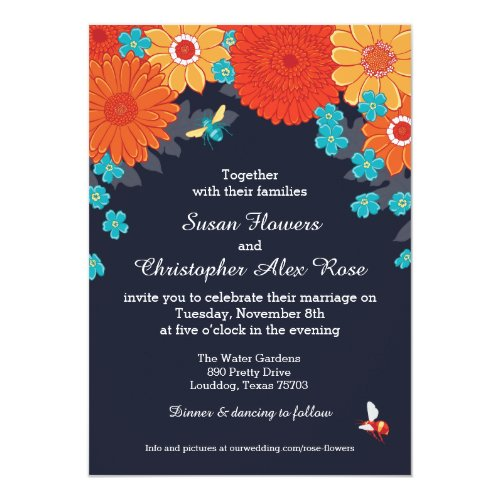 Bees & Blossoms Invitation by JMelindaPayne