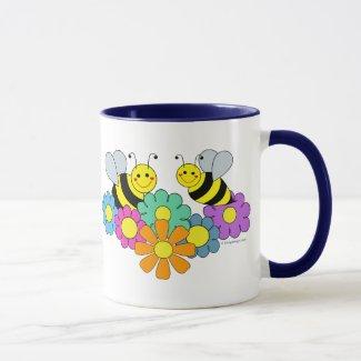 Bees & Flowers Mug