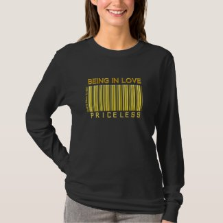 'Being in Love' Priceless (Gold) Barcode Shirt shirt