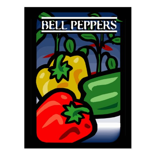Bell Peppers Postcard
