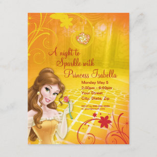 princess belle invitations zazzle