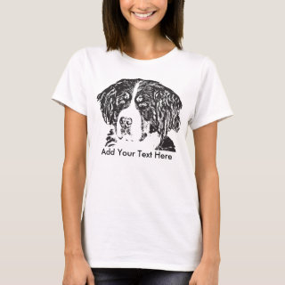 Bernese Mountain Dog Add Your Text T-Shirt