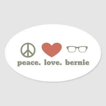 Bernie Sanders Election Swag Oval Sticker