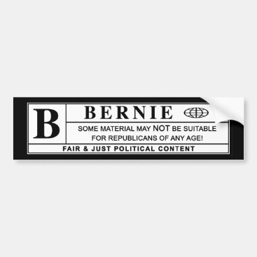Bernie Sanders Warning Label