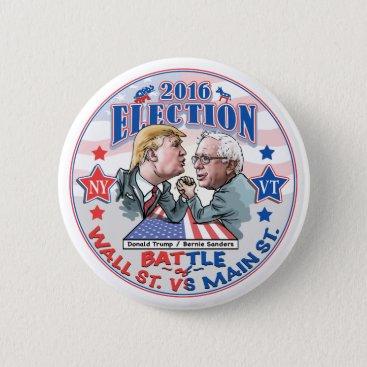 Bernie Vs Trump Election 2016 Pinback Button