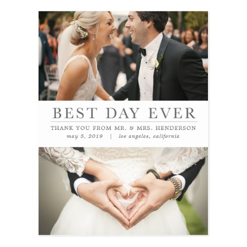 Best Day Ever Thank You Postcard