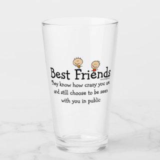Best Friends Glass