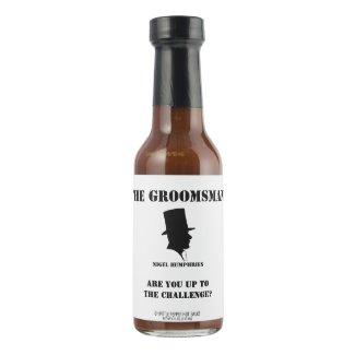 Best Man or Groomsman Hot Sauce Invite