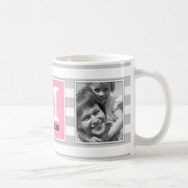 Best Mom Ever! With Photo and Monogram Modern! Coffee Mug