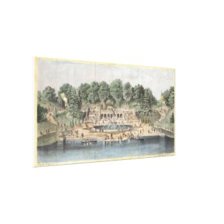 Bethesda Terrace Central Park Vintage Artwork Canvas Print