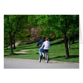 Bicycle Built For Two! Card