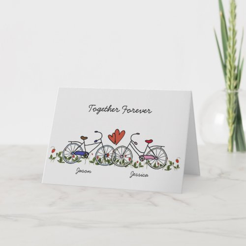 Bicycle Lover Couples Valentine Card
