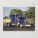 Big blue semi postcard