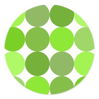 Big Green Polka Dots zazzle_sticker