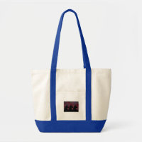 Big Llama Silouette With Maroon, Green & Blue Tote Bag