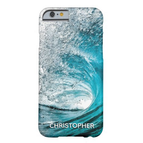 Big Ocean Wave Splash to Add your Name Barely There iPhone 6 Case