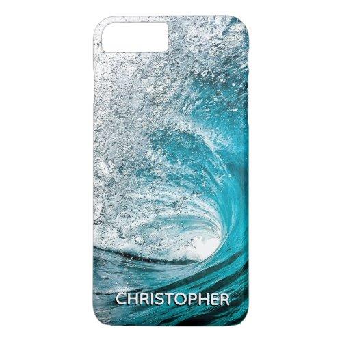 Big Ocean Wave Splash to Add your Name iPhone 8 Plus/7 Plus Case