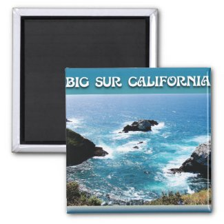 Big Sur California 2 Inch Square Magnet