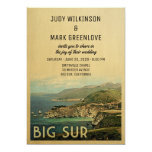 Big Sur Wedding Invitation Vintage Mid-Century