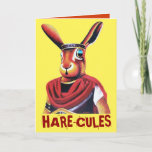 ❤️🤣🎂 Big wild hare called Hare-cules Card