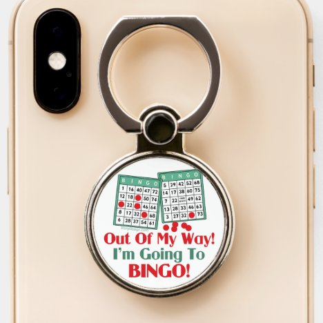 Bingo Lovers Funny Saying Phone Ring Stand