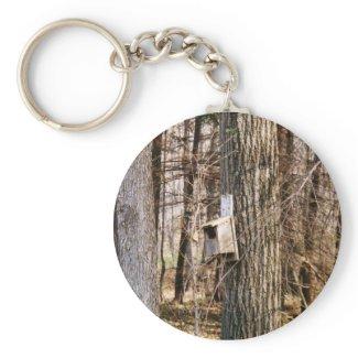 Bird House Keychain keychain