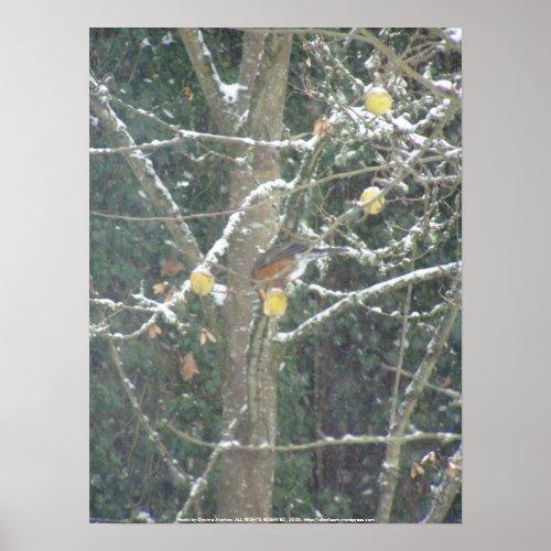 Bird in a winter tree #2 print