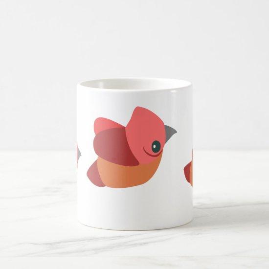 Birds are cute on a coffee mug