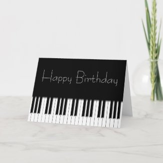 Birthday Card - Piano Keyboard card