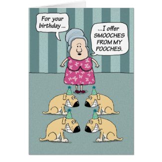 Birthday Card - Smooches