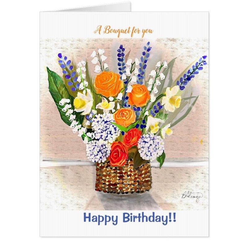 Birthday Giant Bouquet Card