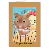 Birthday Greeting Card with Hamster
