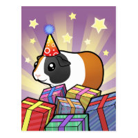 Birthday Guinea Pig (smooth hair) Postcard