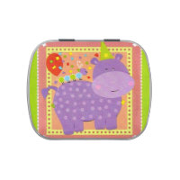 Birthday Hippo Candy Tin