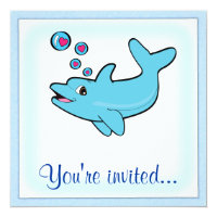 Birthday Party Dolphin Card