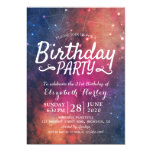 Birthday Party Galaxy Stars Nebula Constellations Invitation