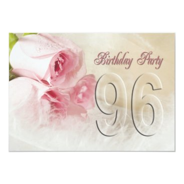 Birthday party invitation for 96 years