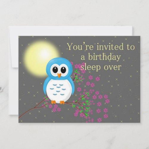 Birthday Sleepover with Owl Card