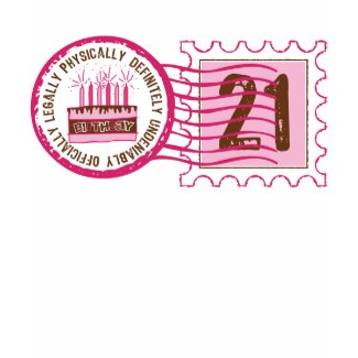 Birthday Stamp 21 T-shirt shirt