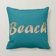 Biscay Blue Beach House Pillow