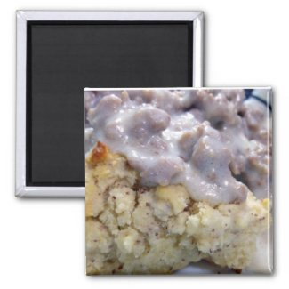 Biscuits & gravy 2 inch square magnet