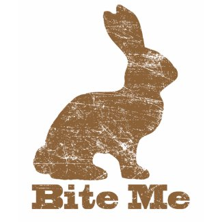 Bite Me Chocolate Easter Bunny T Shirt shirt