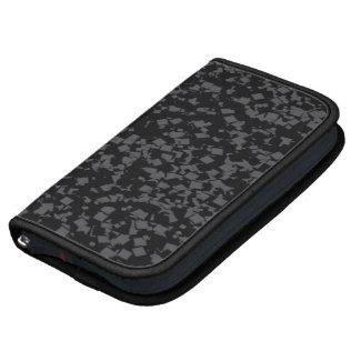Black 3D cubed Smartphone Folio Planner