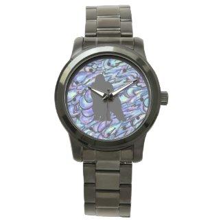 Black and Blue Gorilla Art Black Watch